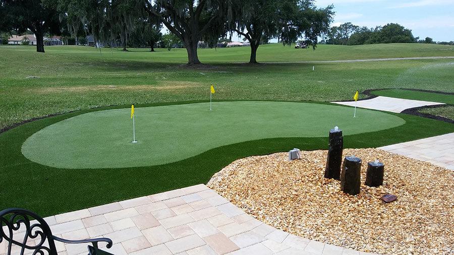 synthetic turf mini-golf course